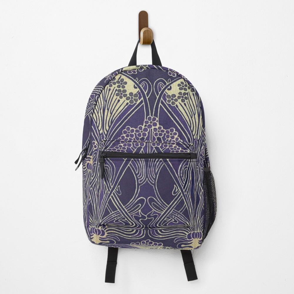 Art Nouveau Icon in Purple Backpack