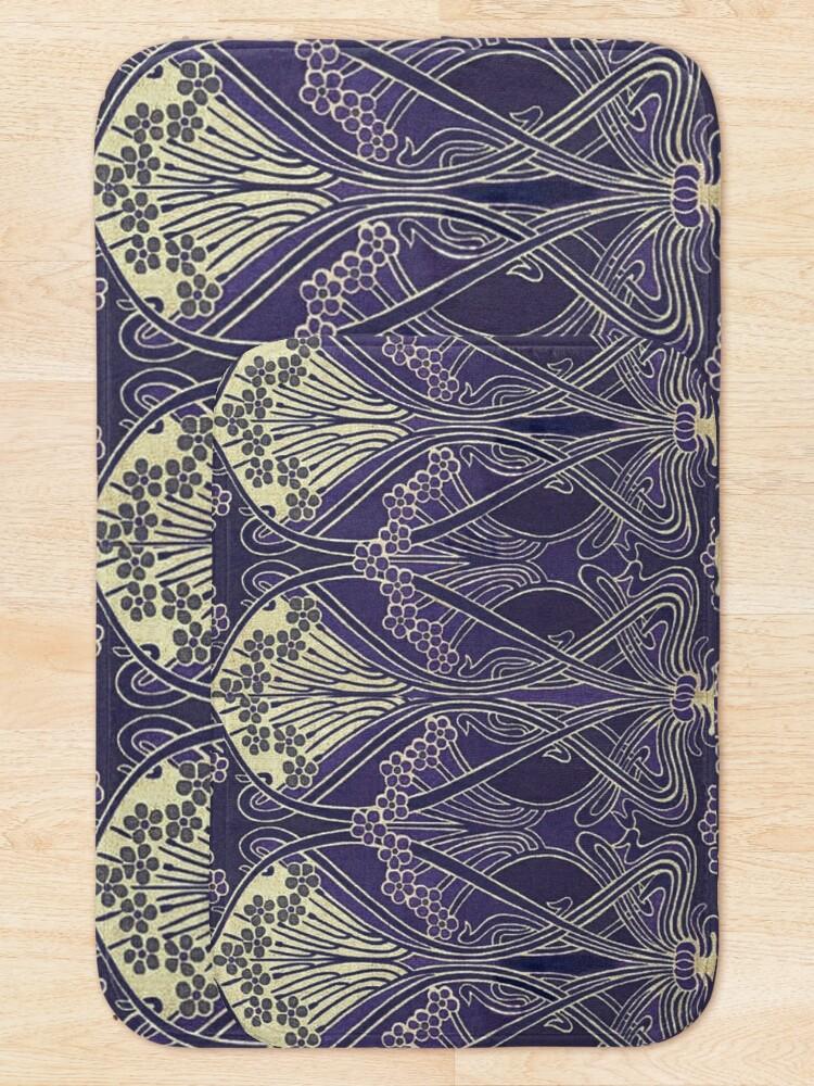 Alternate view of Art Nouveau Icon in Purple Bath Mat
