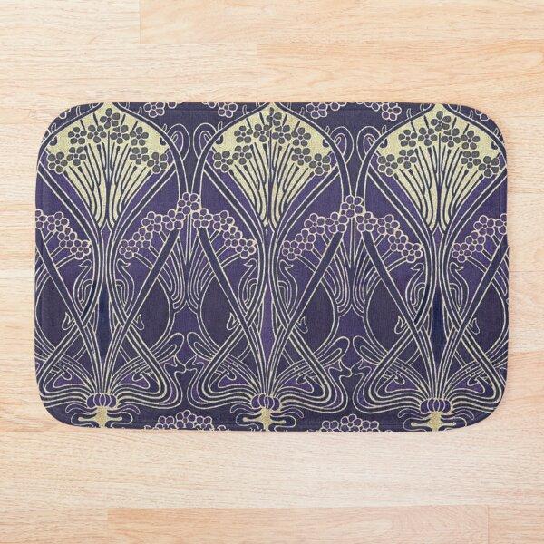 Art Nouveau Icon in Purple Bath Mat