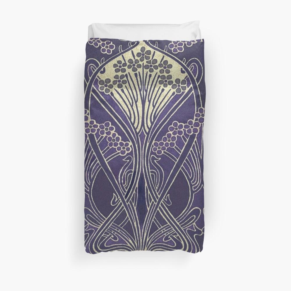 Art Nouveau Icon in Purple Duvet Cover