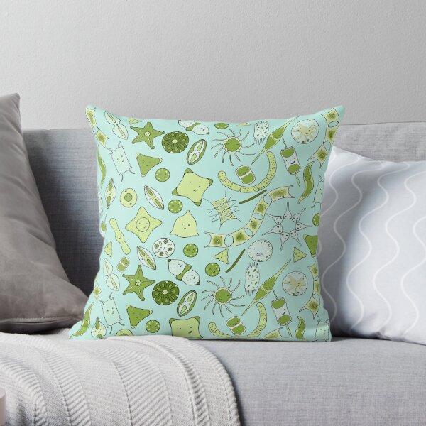 SQUARE for pillows, travel mugs, etc: Yet more diatoms! Throw Pillow