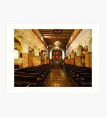 """""""San Juan Bautista"""" - Mission Art Print"""
