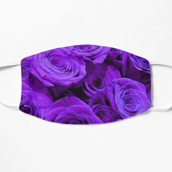 Purple Roses - Romantic lavender floral photo  Mask