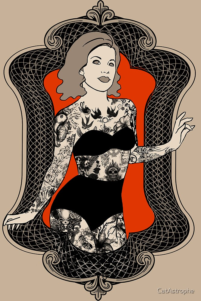 Golden Age of Sideshow - Tattooed Woman by CatAstrophe