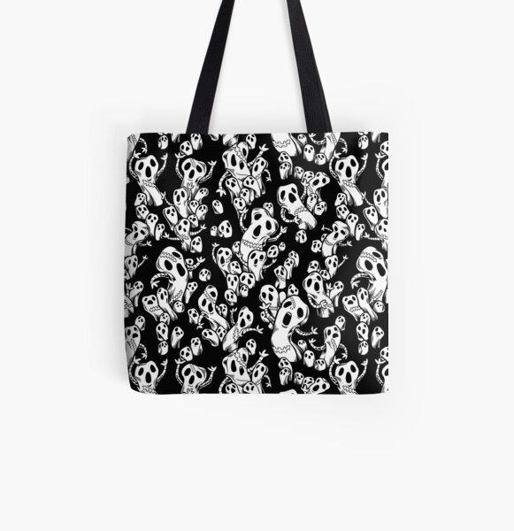 Risotto Nero Metallic Pattern All Over Print Tote Bag