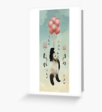 Pandaloons v2 Greeting Card