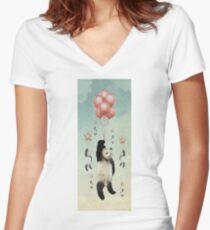 Pandaloons v2 Women's Fitted V-Neck T-Shirt