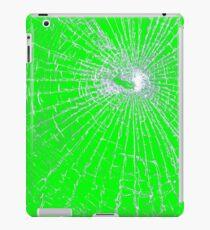 Broken Glass 2 iPad Green iPad Case/Skin