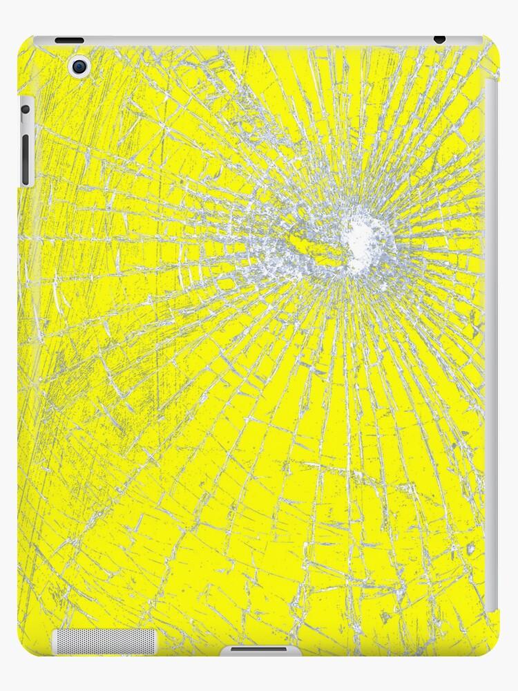 Broken Glass 2 iPad Yellow by Brian Carson