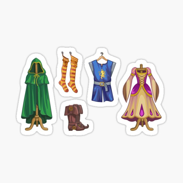 Medieval Clothing Sticker