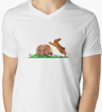 Echidna - Rabbit Play Mens V-Neck T-Shirt