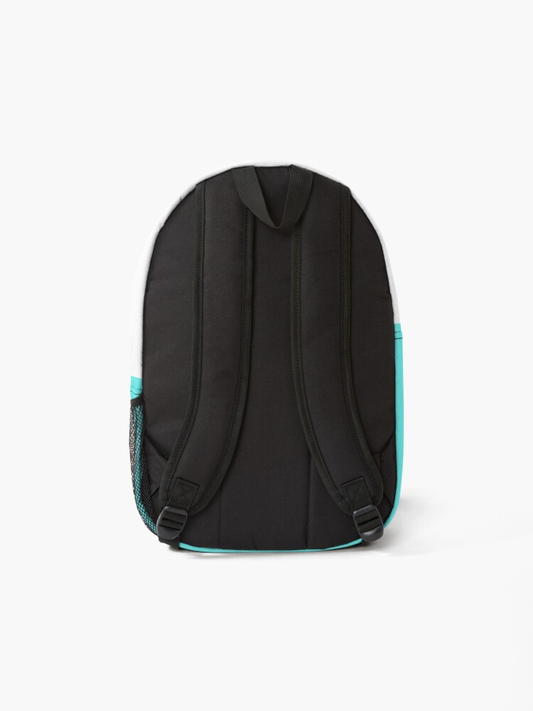 Alternate view of Happy Little Face - Aqua Backpack