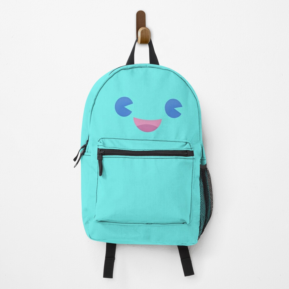 Happy Little Face - Aqua Backpack