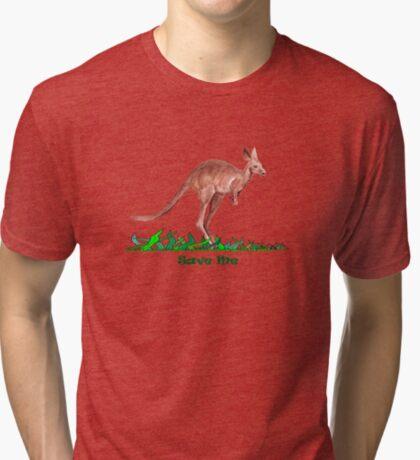 Save the Kangaroo Tri-blend T-Shirt