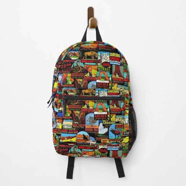 American National Parks Vintage Travel Decal Bomb Backpack