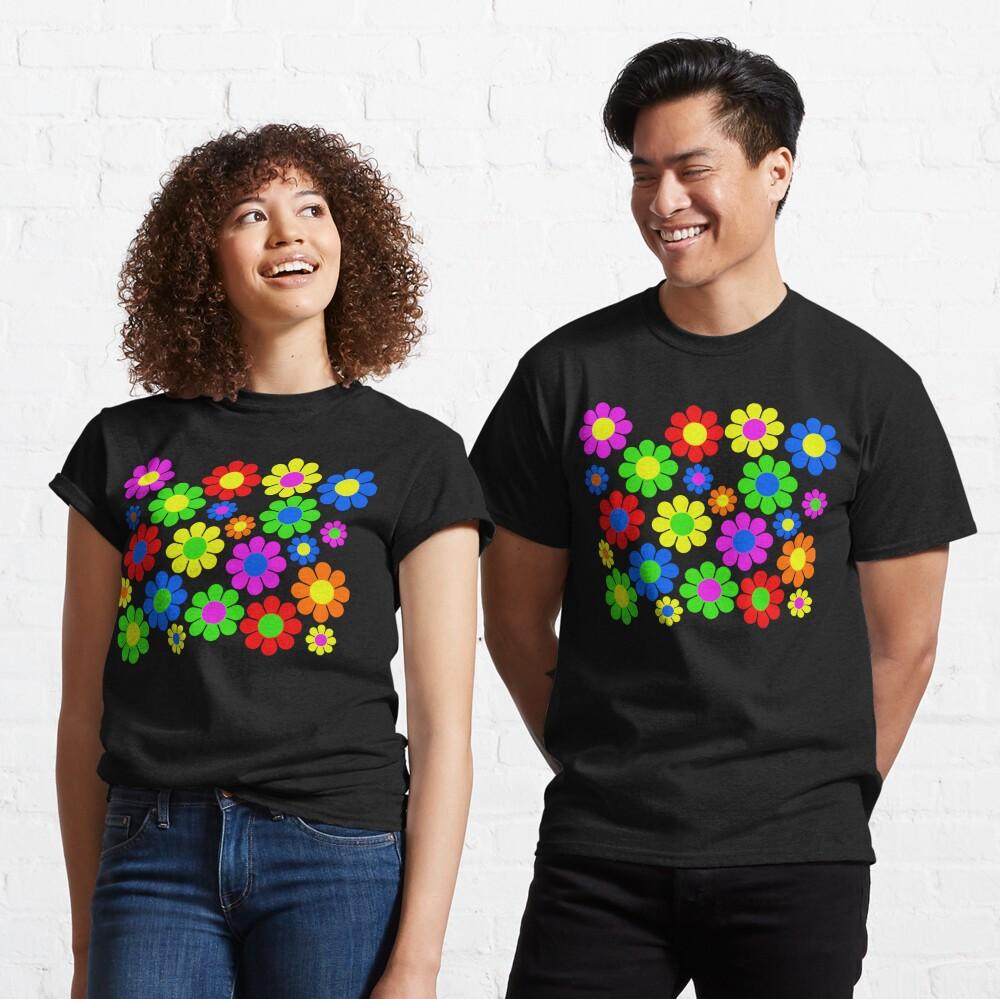 Hippy Flower Daisy Spring Pattern Classic T-Shirt