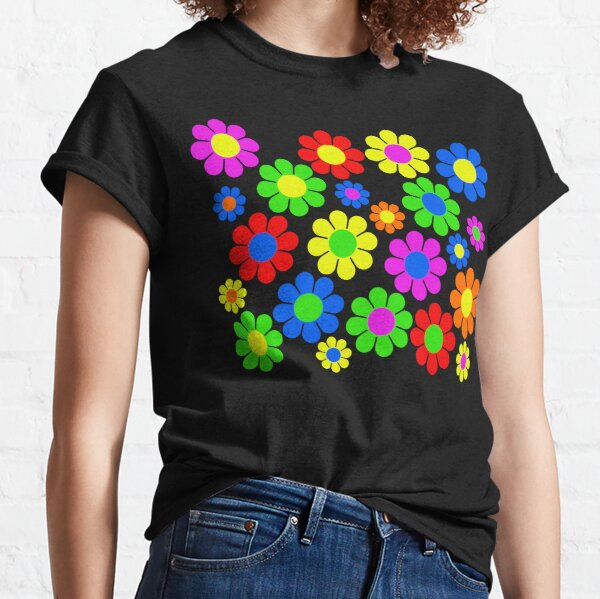 Hippy Flower Daisy Spring Pattern Classic T-Shirt