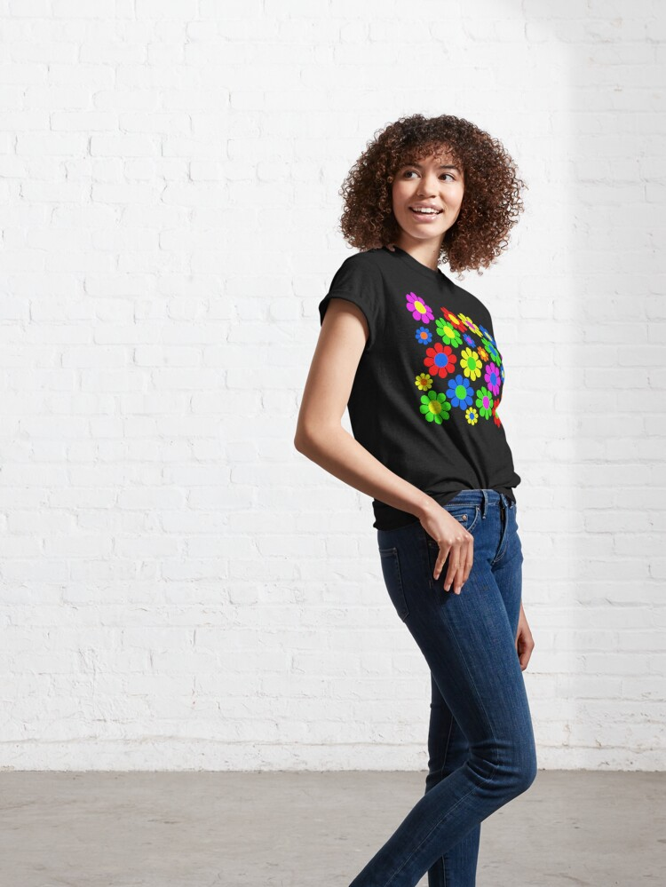 Alternate view of Hippy Flower Daisy Spring Pattern Classic T-Shirt