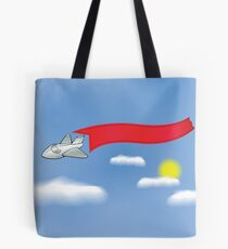 airplane and banner Tote Bag