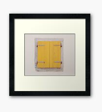 Yellow Shutters in Piran Framed Print