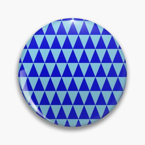 Blue Triangles Pin
