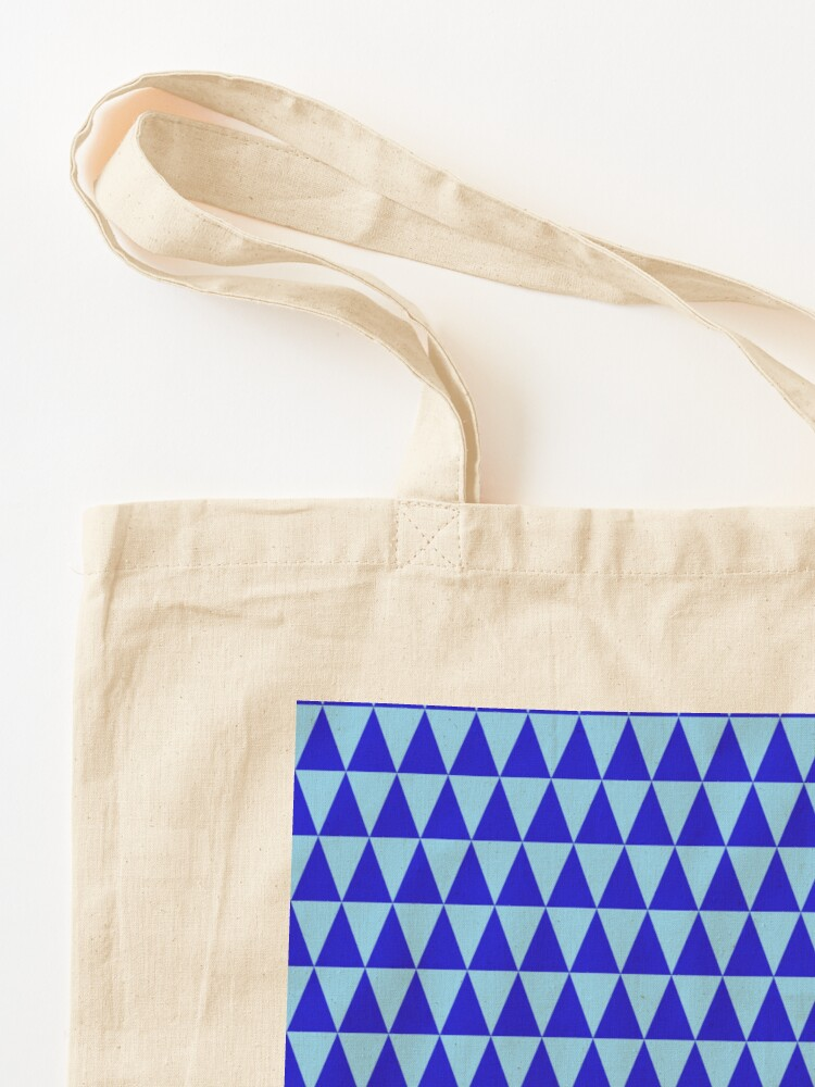 Alternate view of Blue Triangles Tote Bag