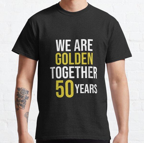 Camisa romántica de regalo de aniversario de bodas número 50 para parejas Camiseta clásica