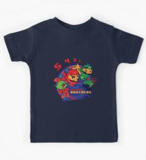super bomber bros. - mario bomberman mashup Kids Clothes