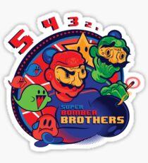 super bomber bros. - mario bomberman mashup Sticker