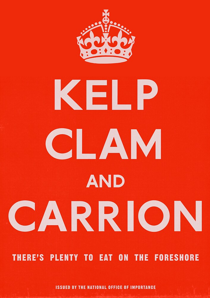 """""""Kelp, Clam and Carrion,"""" 1941 by TVGC"""
