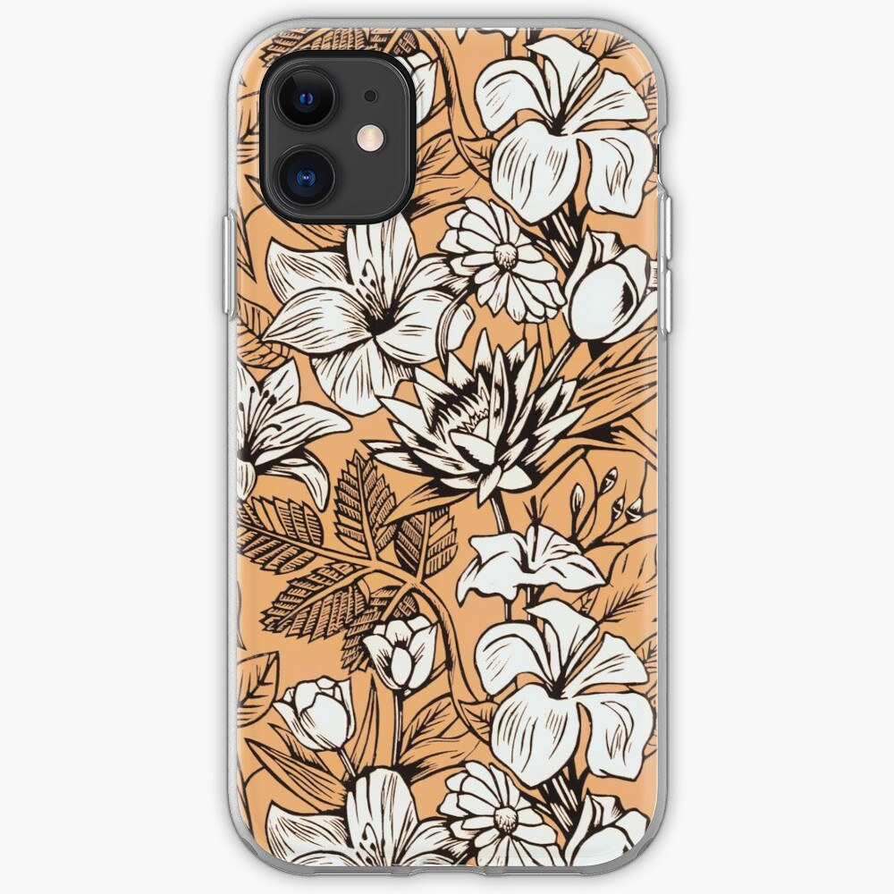 Vintage Tropical Flowers Wallpaper Iphone Case Iphone Case Cover By Wlartdesigns Redbubble