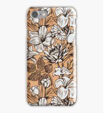 Vintage Tropical Flowers Wallpaper iPhone Case iPhone Case/Skin