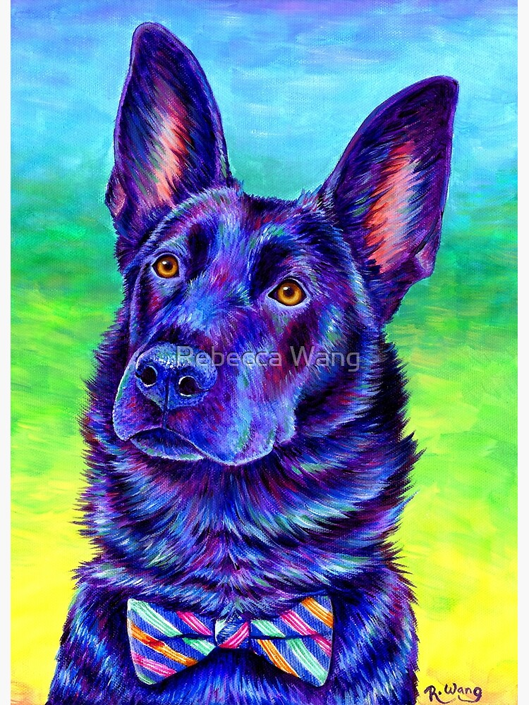 Colorful Black German Shepherd Dog by lioncrusher