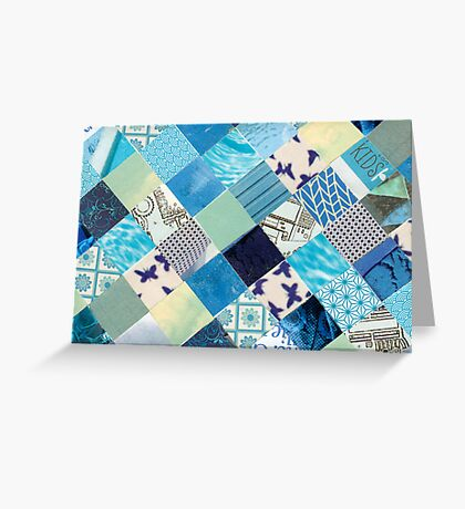 Collagecard: Bleu Greeting Card