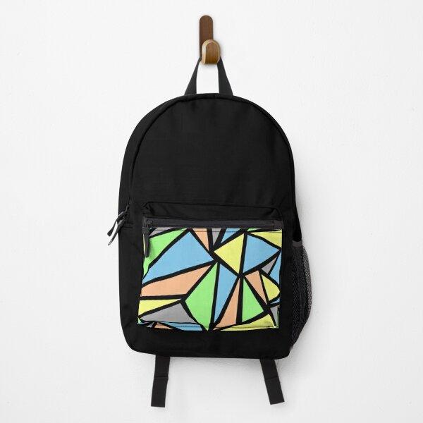 Copy of dark blue swirl art Backpack