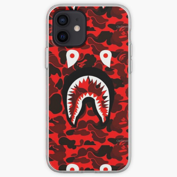 CAMO BAPE RED SHARK  iPhone Soft Case