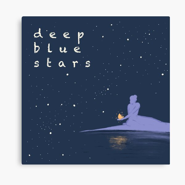 Deep Blue Stars Logo Canvas Print