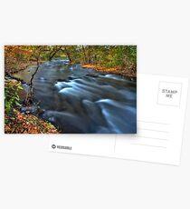 Mississippi River Minneapolis rushing in Hiawatha Park Minnesota Postkarten