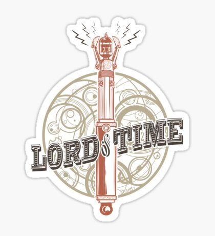 Steampunk Sonic Screwdriver Sticker