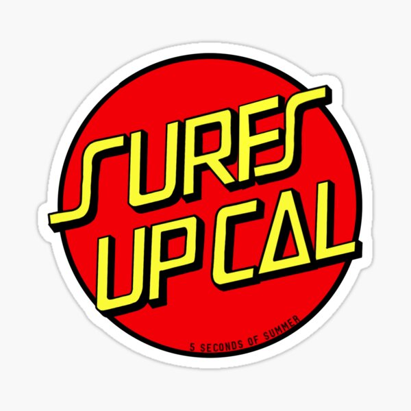 Surfs Up Cal  Sticker