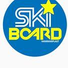 Hammarplast Ski-Board Logo Sweden by illicitsnow