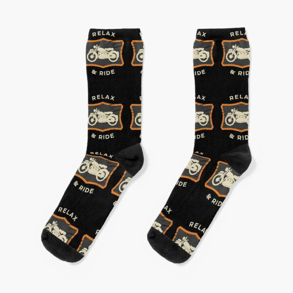 Motorcycle Riding Gear / Vintage Ride Graphic For Bikers design Socks