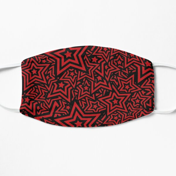 Star Pattern Persona 5 Red & Black Flat Mask