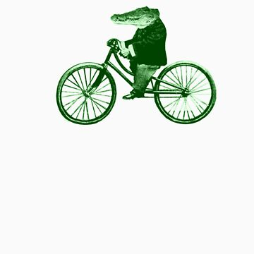 Croc On A Bike (green) by HaroldRamp