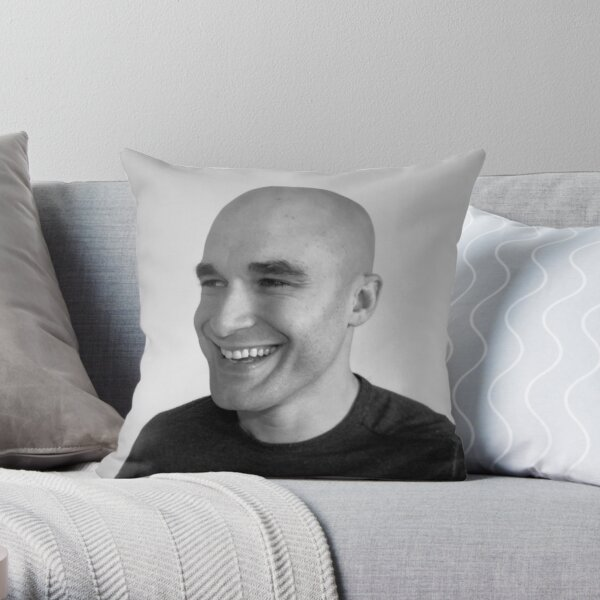 Zachary Phillips Black & White Face Throw Pillow