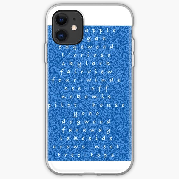 Keystone Camp Cabin Names iPhone Soft Case