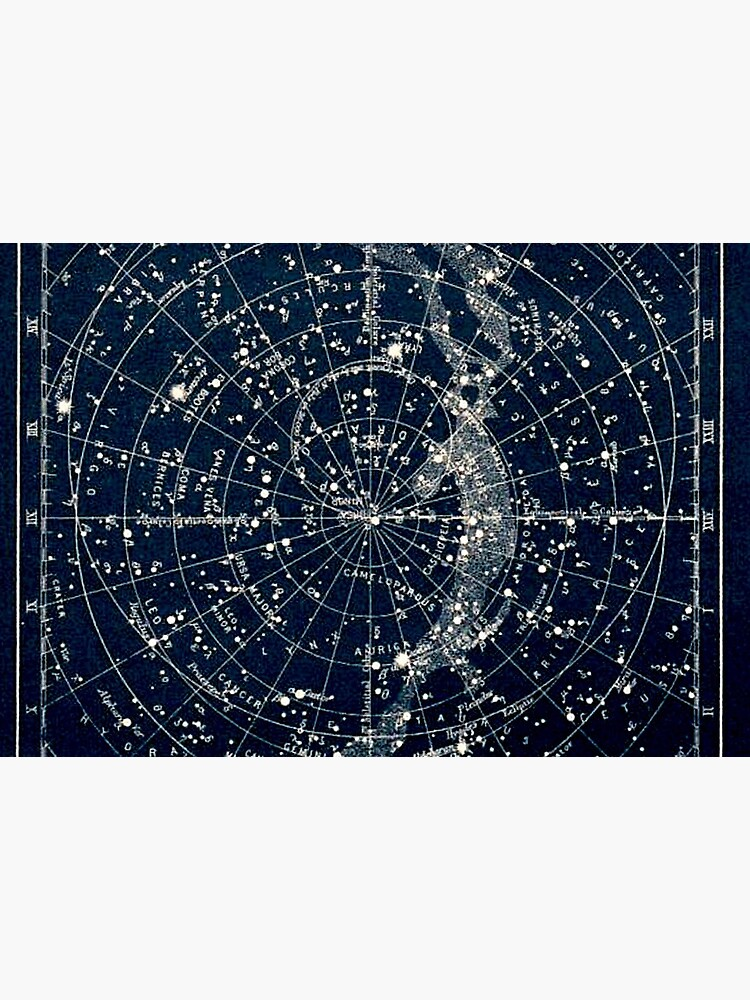 THE STAR CONSTELLATIONS : Vintage 1900 Galaxy Print by posterbobs