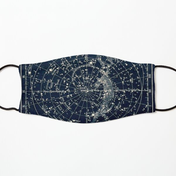 THE STAR CONSTELLATIONS : Vintage 1900 Galaxy Print Kids Mask