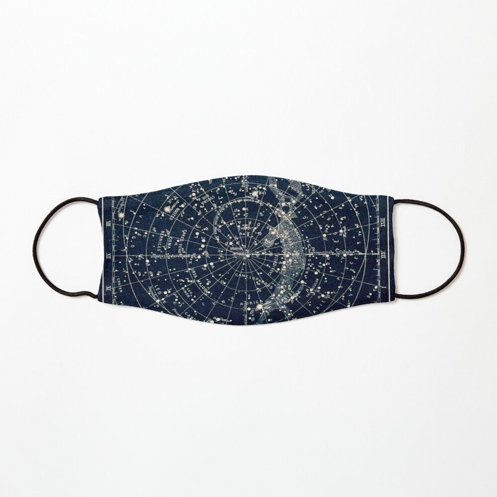 THE STAR CONSTELLATIONS : Vintage 1900 Galaxy Print Mask