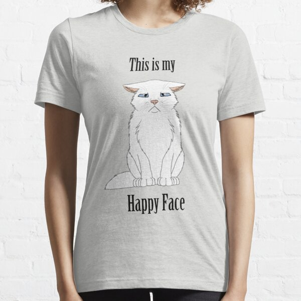 Happy Face - White Cat Essential T-Shirt